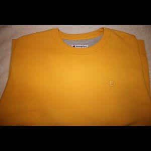 Men's Medium Champion Crewneck Sweater (Yellow)